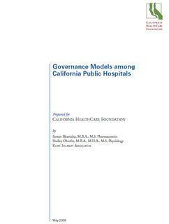 Governance Models